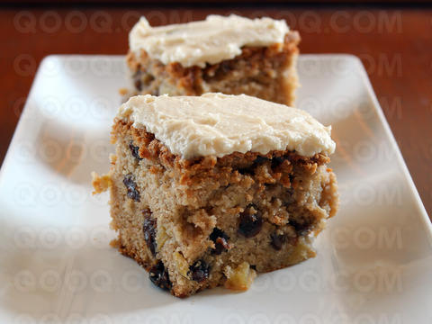 Rum-Raisin Frosted Apple Cake , an interactive recipe on QOOQ