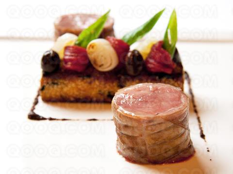 Selle d 39 agneau dor e au thym citron polenta croquante - Cuisiner une selle d agneau ...